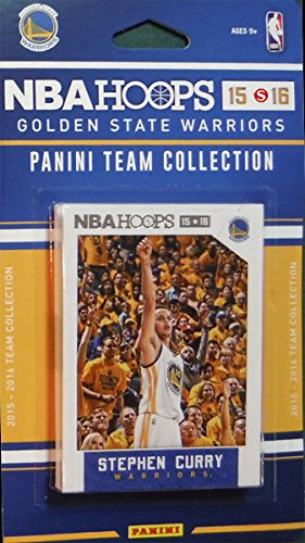 Golden State Warriors 2015 2016 Hoops Basketball Factory Sealed 10 Card NBA Licensed Team Set with Stephen Curry Plus ()
