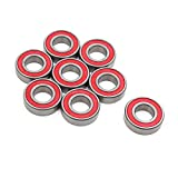 uxcell® 8pcs 6004-2RS Scooter Motorcycle Sealed Deep Groove Ball Bearing 42 x 20 x 12mm