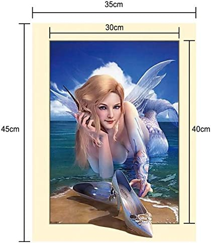 5D Diamond Painting Stitch and Angel Full Square//Round Drill Mosaic 3D Diamond Embroidery Cross Stitch Kits Wall Painting Home Decor 35cm X 45cm