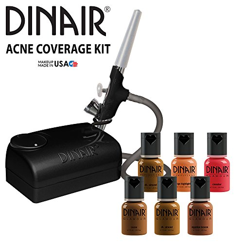 Dinair Airbrush Makeup Foundation | Fair Shades | Basic Acne Coverage Kit | Starter Set
