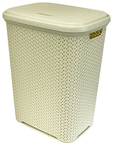 Wee's Beyond Rattan Laundry Hamper 55 Liters Ivory, W08-1106-IVY (Hampers Laundry Rattan)