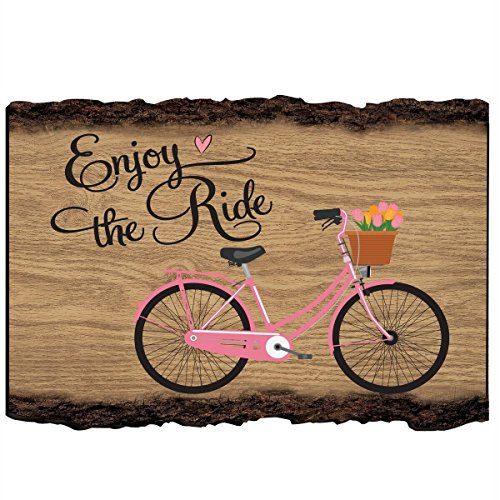 LifeSong Milestones Enjoy The Ride Bicycle Wall Art Decor Print Quote Bike Decor for Husband Wife Best Friend Son Daughte Birthday Gift Ideas 9