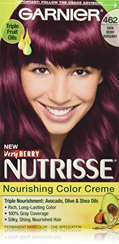 Garnier Nutrisse Nourishing Hair Color Creme, 462 Dark Berry
