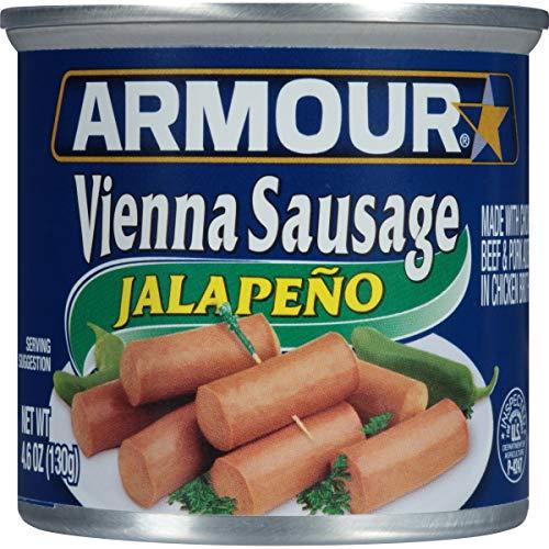 Armour Vienna Sausage, Jalapeno, 4.6 Ounce (Pack of - Sausage Jalapeno