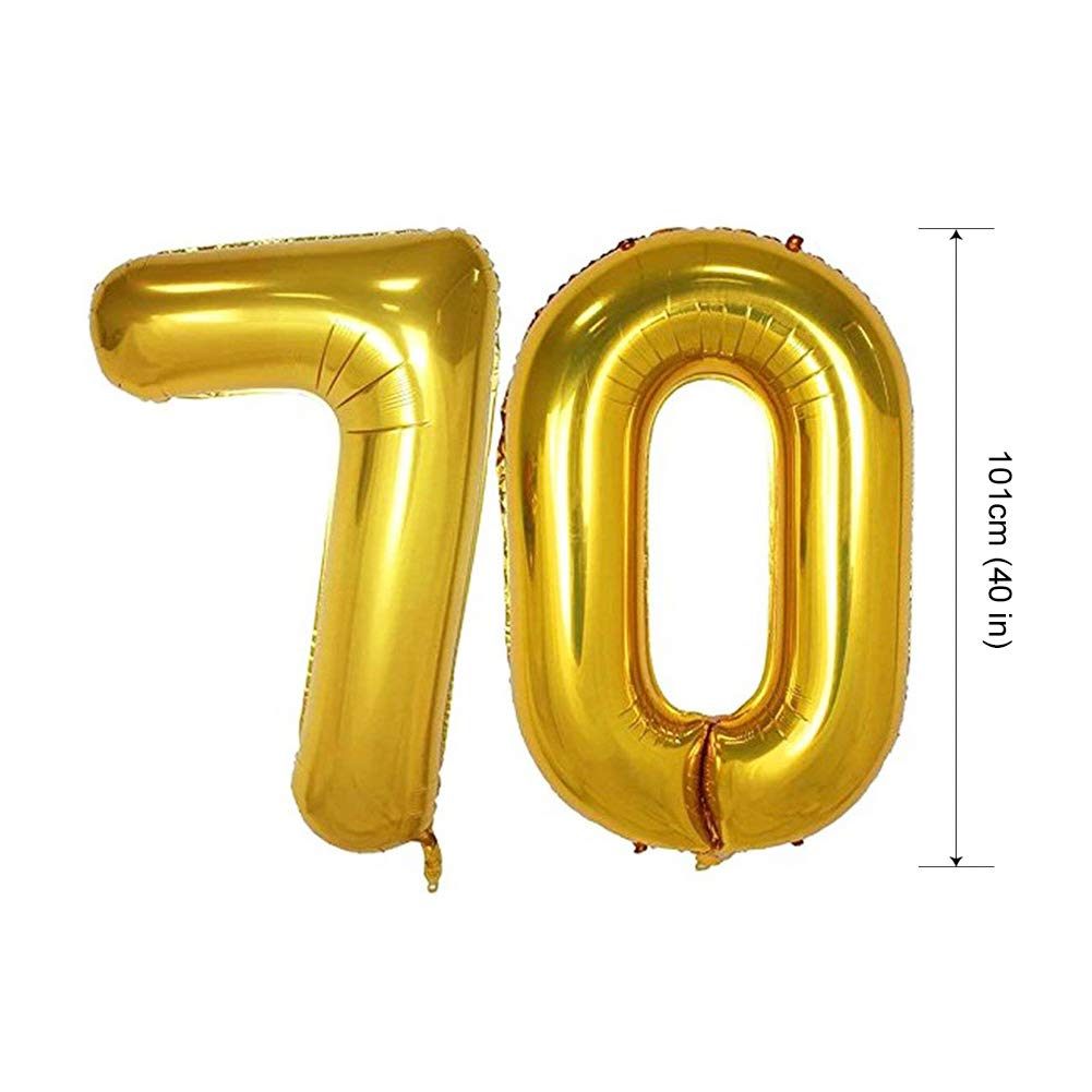 Confetti Balloons Great for 60 Sixty Years Old Birthday Party Black, Golden HankRobot 60th Birthday Decorations Party Supplies(40pack) Gold Number Balloon 60 Happy Birthday Banner Latex Balloons