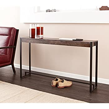 holly u0026 martin macen media console table burnt oak with black finish - Cheap Console Tables