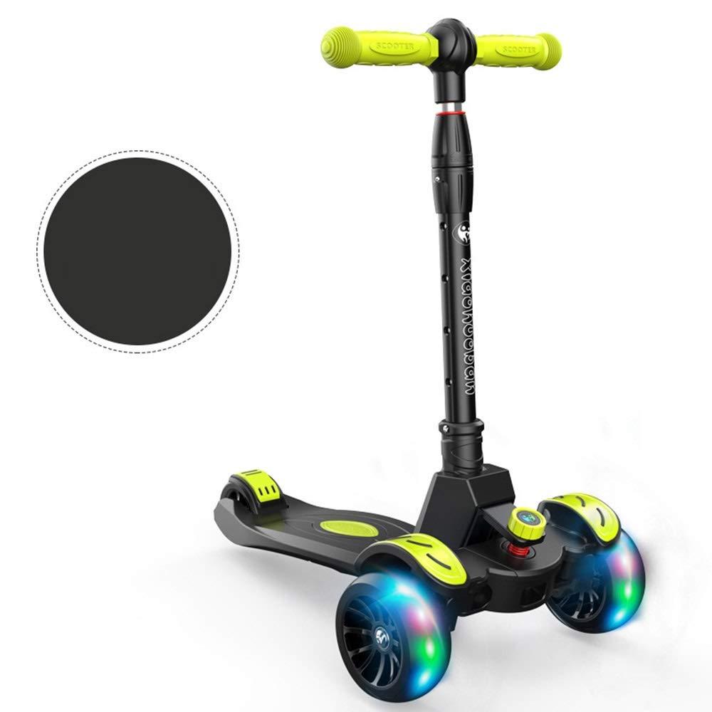 Runplayer 315歳の子供用スクーター、子供用ヨーヨーデザイン、子供用屋外玩具 Black、閃光ホイール、折りたたみ式 Runplayer、4速調整可能スクーターに適しています ( : Color : Black ) B07R39HBSC, バラエティーショップ KINちゃん:2fe6832f --- web.ferraridentalclinic.com.lb