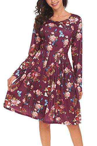 long sleeve a line dress - 8