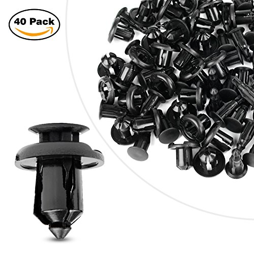 GOOACC Nylon Bumper 10mm Push Fender Flare Fastener Rivet Clips Furniture Assembly Expansion Screws Kit , 40 Pcs / Pack