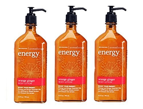 Bath & Body Works Aromatherapy Energy - Orange + Ginger Body Lotion, 6.5 Fl Oz, 3-Pack by Bath & Body Works