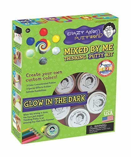 Crazy Aaron Thinking Putty Gift Bundle Mixed By Me Glow Dark Kit + Bonus Super Illusions Super Scarab Tin by Crazy Aaron's (Image #2)