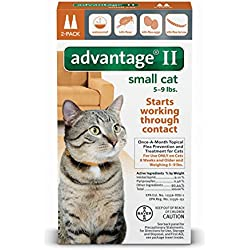 Advantage II Topical Treatment for Fleas Small Cat Kitten 5 to 9 lbs 2 Months