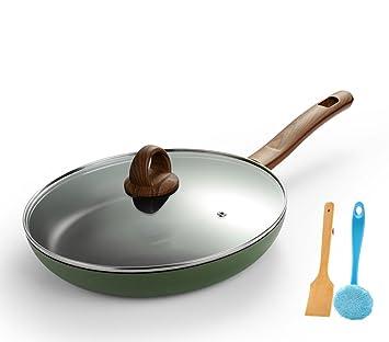 LLW-Frying Pans Sartenes para Sartenes Sartenes para Asar A La Parilla Sin Humo Cocina De Inducción Antiadherente Estufa De Gas para Ollas Antiadherente ...