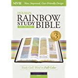 NIV Rainbow Study Bible, Purple LeatherTouch Indexed