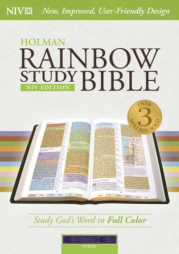 - NIV Rainbow Study Bible, Purple LeatherTouch Indexed