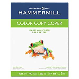 Hammermill Paper, Color Copy Digital Cover, 60 lbs., 8.5 x 11, 100 Bright, 250 Sheets / 1 Pack(122549R), Made In The USA
