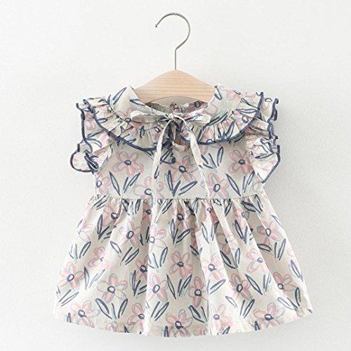 Tefamore Kleinkind Kinder Baby Girls Floral Print Kleider Kleidung Partei Prinzessin Kleider Lila