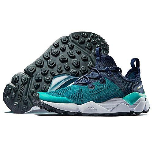 Rax Mens Energia Ammortizzazione Trail Scarpe Da Corsa Moda Sneakers Verde