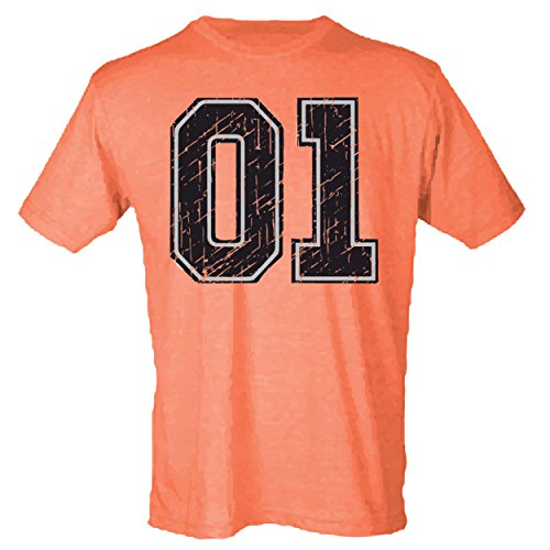 General Lee Car 01 Sublimation Print Men's T-Shirt - Small Heather Orange (ATA1831)