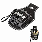 Itian Electrician Tool Bag - Black 9 In 1 Electrician Waist Pocket Tool Belt Pouch Bag Screwdriver Utility Kit Holder