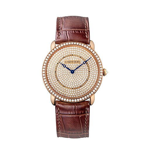 Cartier Ronde Louis 18K Pink Gold Diamond Dial Unisex Watch WR007008