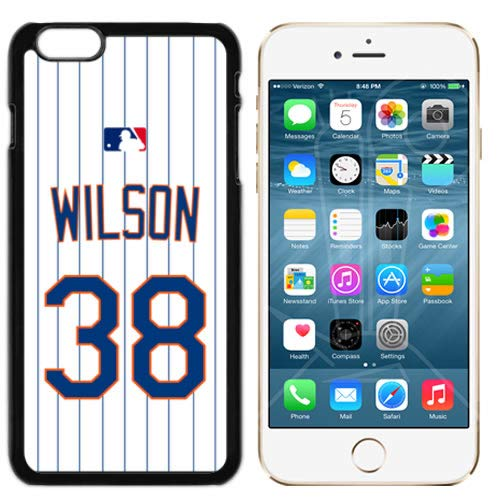 Wilson Home Jersey - iPhone 6 New Case Mets NY Home Jersey Baseball Fashion Grip Anti-Slip Protective Shock Resistant Durable PC TPU by Mr Case (Wilson, iPhone 6, 6S)