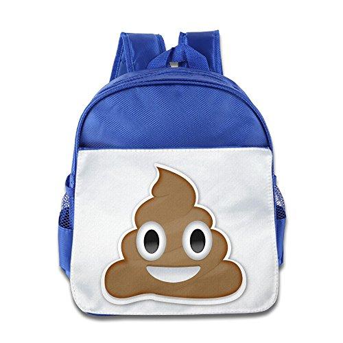 (Ysov Poop Smiley Face Little Kid Preshool Schoolbag RoyalBlue)