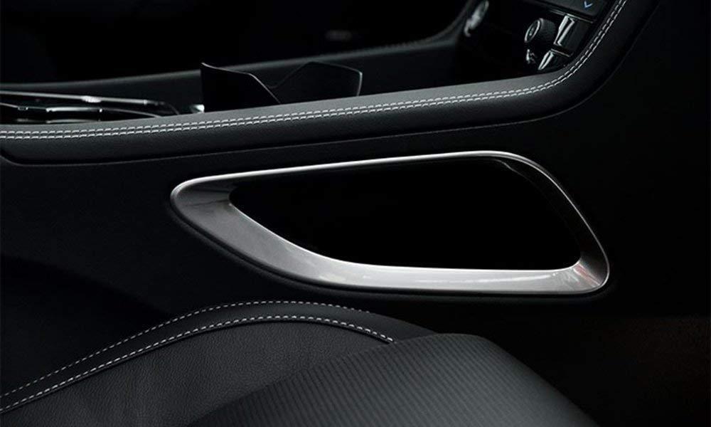 ABS Chrome Interior Shift Box Side Cover Frame Trim for Jaguar F-Pace F pace 2016 2017 Autobro 5559020133