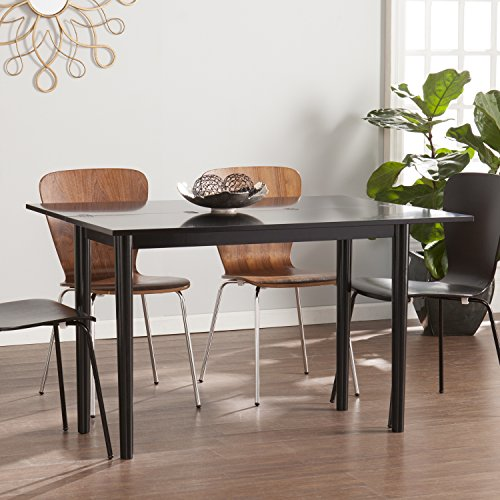 Flip Top Seat - Carlow Flip Top Converticle Console Dining Table - Seats 2 to 4 - Satin Black Finish