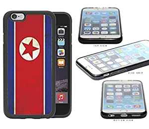 North Korean Flag Dirty Grunge Rubber Silicone TPU Cell Phone Case Apple iPhone 6