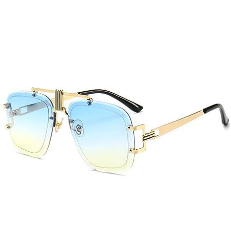 Yangjing-hl Gafas de Sol sin Marco de Personalidad Estilo de ...
