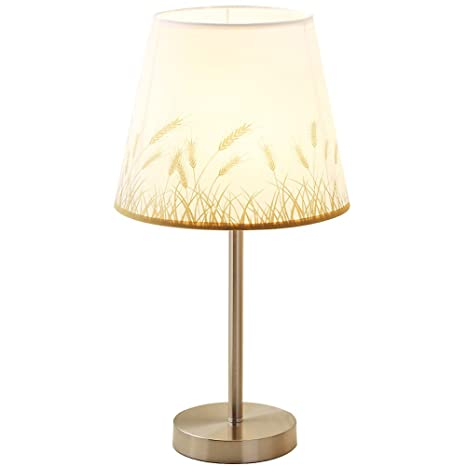 Amazon.com: Lámpara de mesa sencilla decorativa dormitorio ...