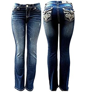 Clash/Jack David/Sexy Couture Women's Bootcut/Skinny Denim Jeans Stretch Blue
