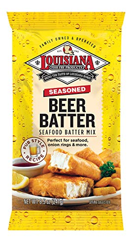 Louisiana Fish Fry, Beer Batter Mix, 8.5 oz (Pack of 12)