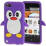 Carcasa Silicona Cartoon pingüino para Smartphone–Galaxy S3–S4–S5–iPhone 4/4S–5C–5/5S–6–iPod Touch 5–iPod Nano 7