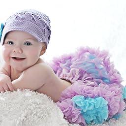 Huggalugs Baby Girls Pettiskirt Newborn Lilac Turquoise