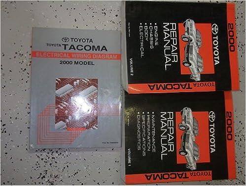Electric Wiring Diagram Book : 2000 toyota tacoma service repair shop manual set factory book set
