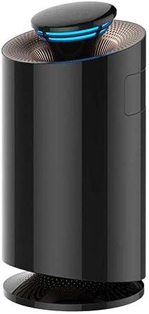 Petit purificateur d'air domestique, en plus du purificateur de chambre de bureau en formaldéhyde, filtre à air intelligent multifonctionnel contre les allergies, fumée, poussière fine, pollen,Noir