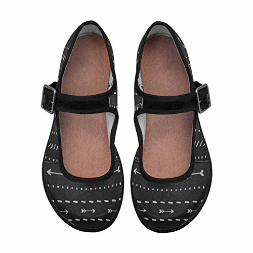 Interestprint Womens Comfort Mary Jane Flats Casual Scarpe Da Passeggio Multi 3