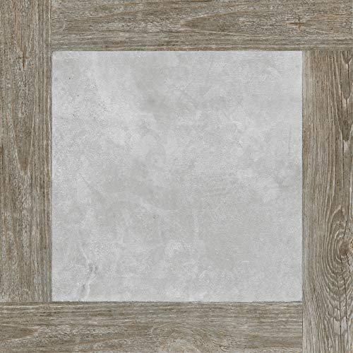 MUZZI Porcelain Tile Cemento Series, Matt Tile,Light Grey, Wooded, 4 Pcs 24'' X 24'' / Each,MZ170W 7L-U9S3-05RY