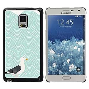 Be Good Phone Accessory // Dura Cáscara cubierta Protectora Caso Carcasa Funda de Protección para Samsung Galaxy Mega 5.8 9150 9152 // Modern Art Seagull Waves Blue Sea