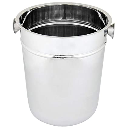 Champagne beer ice bucket Black Acrylic Plastic Large Ovale verres Pail Cooler
