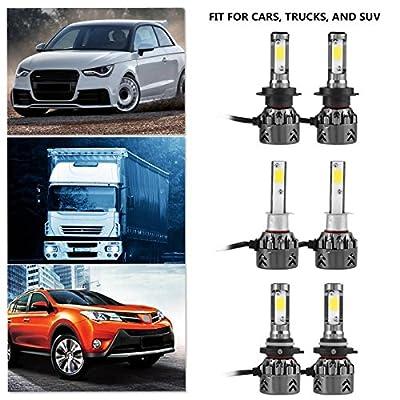 Daphot-Store - New 1 Pair of H7/9006/H1 Mini6 LED Car Headlight Kit 8000LM 6000K Ultra-quiet High Power Bulb