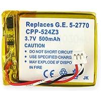 GE 5-2770 Cordless Phone Battery 3.7 Volt, Li-Pol 500mAh - Replacement For G.E. 5-2762/2770