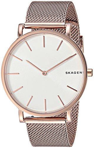 Skagen Men's 'Hagen' Quartz Stainless Steel Casual Watch, Color:Rose Gold-Toned (Model: SKW6444)