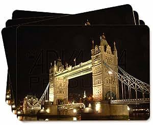 London Tower Bridge Imprimir Manteles de imagen en la caja de regalo mesa de reg