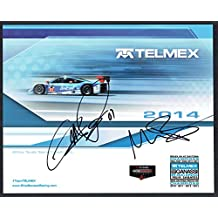 Memo Rojas & Scott Pruett signed autograph auto 8x10 TELMEX Racing Photo