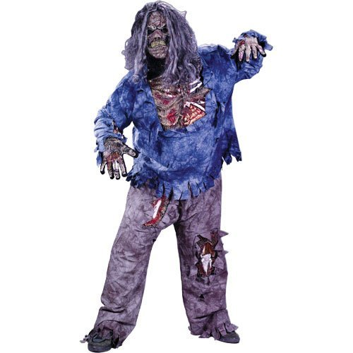 Fun World Zombie Complete Child Costume - (Large (12-14))