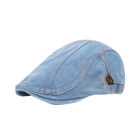 Bobury Moda Mujeres Empalme Jean Sombreros Chica Dril de algodón Ocasional paño Gorras de Visera otoño