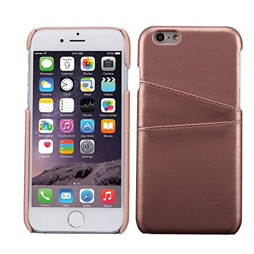 iPhone 6 Card Case, L-Tiger Ultra Slim Faux Leather Credit Card ID Holder Slots Shockproof Protective Cover for Apple iPhone 6 6S 4.7